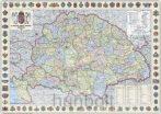 A Magyar Szent Korona országai 1914 (1:360 000) 125x90 cm Ívben, fóliázva