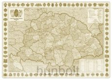 Antik Szent Korona 96x68 cm keretezve, kasírozva