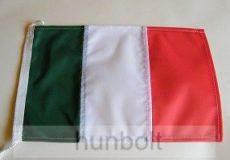 Hajós, színenként varrott, zsinóros olasz zászló (20X30 cm)