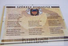 Asztalra tehető és falra akasztható üveglapos Székely Himnusz 21X30 cm