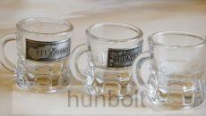 Snapszos 25 ml füles pohár különböző ón matricával