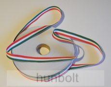 Nemzeti fehér szélű szalag 14 mm szélességű  10 méter/csomag