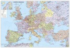 Európa országai 125x90 cm keretezve, kasírozva