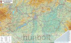 Magyarország autóstérképe 100x70 cm