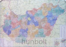 Magyarország régiói, megyéi, kistérségei és települése 120x87 cm Íves