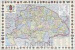 A Magyar Szent korona országai (1:1 600 000), 70x50 cm