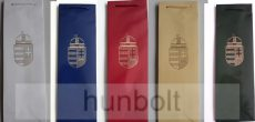 Arany címeres, italos, fényes dísztasak 8x11,5X37 cm