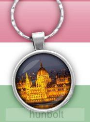 Budapesti Parlament üveglencsés kulcstartó
