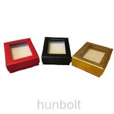 Ablakos fekete doboz 65x80x25 mm