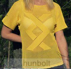 Kötött női felső- sárga