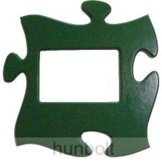Puzzle képkeret (zöld)