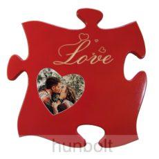 Szerelem- Love képkeret. Gravírozott LOVE felirattal