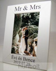 Képkeret esküvőre 10X15 cm