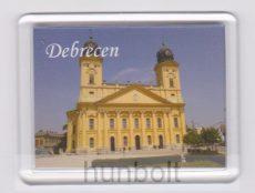 Debrecen Negytemplom fehér felirattal hűtőmágnes (műanyag keretes)