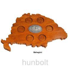 Faragott Nagy-Magyarország pálinka kínáló ón címkével