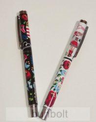Fém toll  fekete betéttel