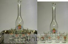 Angyalos üveg 6 pohárral - szett