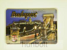 Budapest -  Lánchíd, címer domború hütőmágnes