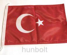 Török 2 oldalas hajós zászló (20X30 cm), zsinóros