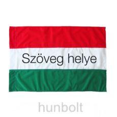 Egyedi feliratos magyar zászló