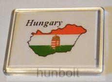 Hungary feliratos műanyag keretes hűtőmágnesek
