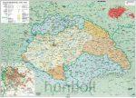 Magyar népesség új határai 1838-45 íves reprint térkép 100x70 cm