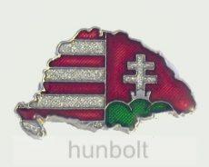 Nagy-Magyarországos árpádsávos kettős keresztes jelvény (35 mm)