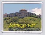 Sümegi vár dombon hűtőmágnes (műanyag keretes)