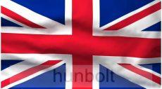 Angol zászló 15x25cm, 40cm-es műanyag rúddal