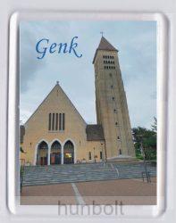 Genk-Szent Márton templom hűtőmágnes (műanyag keretes)