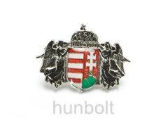 Angyalos címer (29x20 mm) jelvény ezüst színű