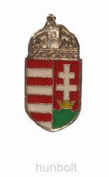 Magyar címeres (18 mm) jelvény ezüst színű