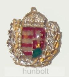 Ezüst koszorús címer (18mm) jelvény