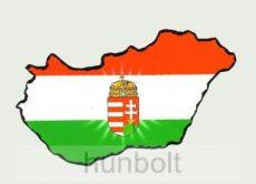 Öntapadó autós papír matrica, címeres Magyarországos