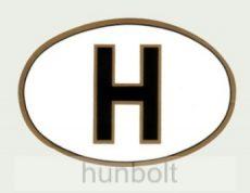 Öntapadó matrica, ovális H betűs