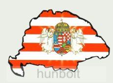 Árpádsávos angyalos hűtőmágnes Nagy-Magyarország körvonallal