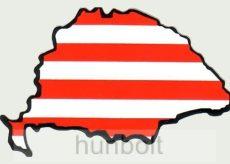 Árpádsávos hűtőmágnes Nagy-Magyarország körvonallal 8x5 cm