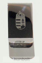 Pénzcsipesz csatos, gravírozott címeres