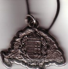 Nagy-Magyarországos koszorús címeres  nyaklánc