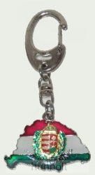 Nagy-Magyarországos koszorúscímeres kulcstartó (39x24 mm)