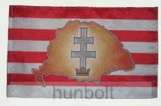 Árpád sávos Nagy- Magyarországos kettőskeresztes zászló