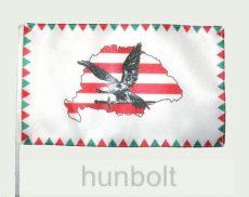 Farkasfogas árpádsávos Nagy- Magyarországos turulos zászló
