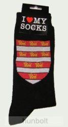 Árpádházi címeres zokni fekete