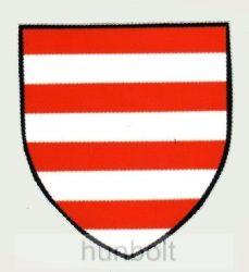Árpádsávos pajzs hűtőmágnes