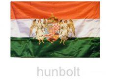 Kétoldalas nemzeti színű barna angyalos zászló