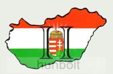 Világos H betűs, címeres Magyarország hűtőmágnes 14x8 cm