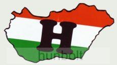 H betűs Magyarország hűtőmágnes
