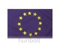 Európa zászló, hurkolt poliészter nyomott mintás kültéri zászló.  100x200 cm