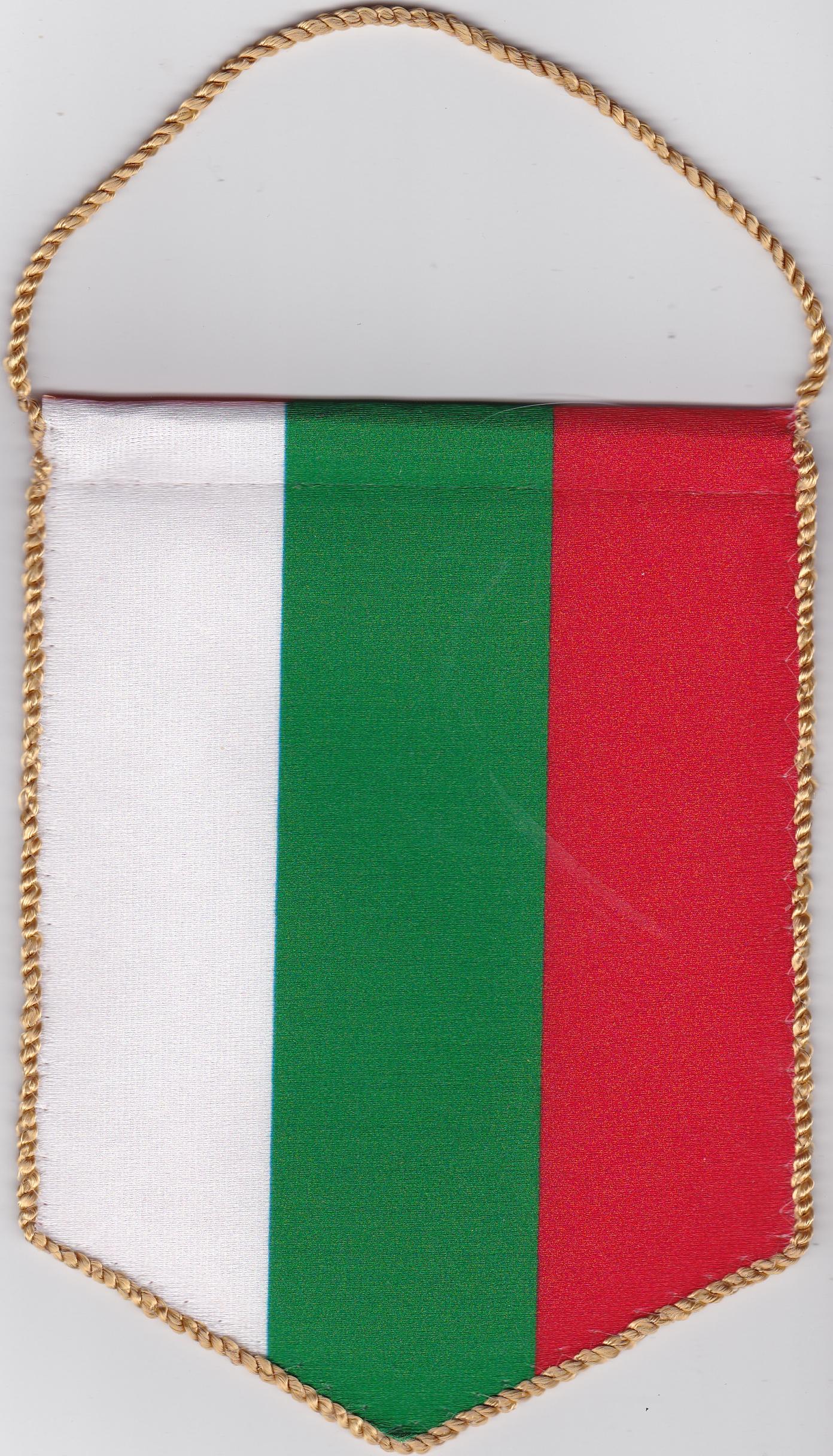 5 szögletű bolgár zászló visszapillantó tükörre