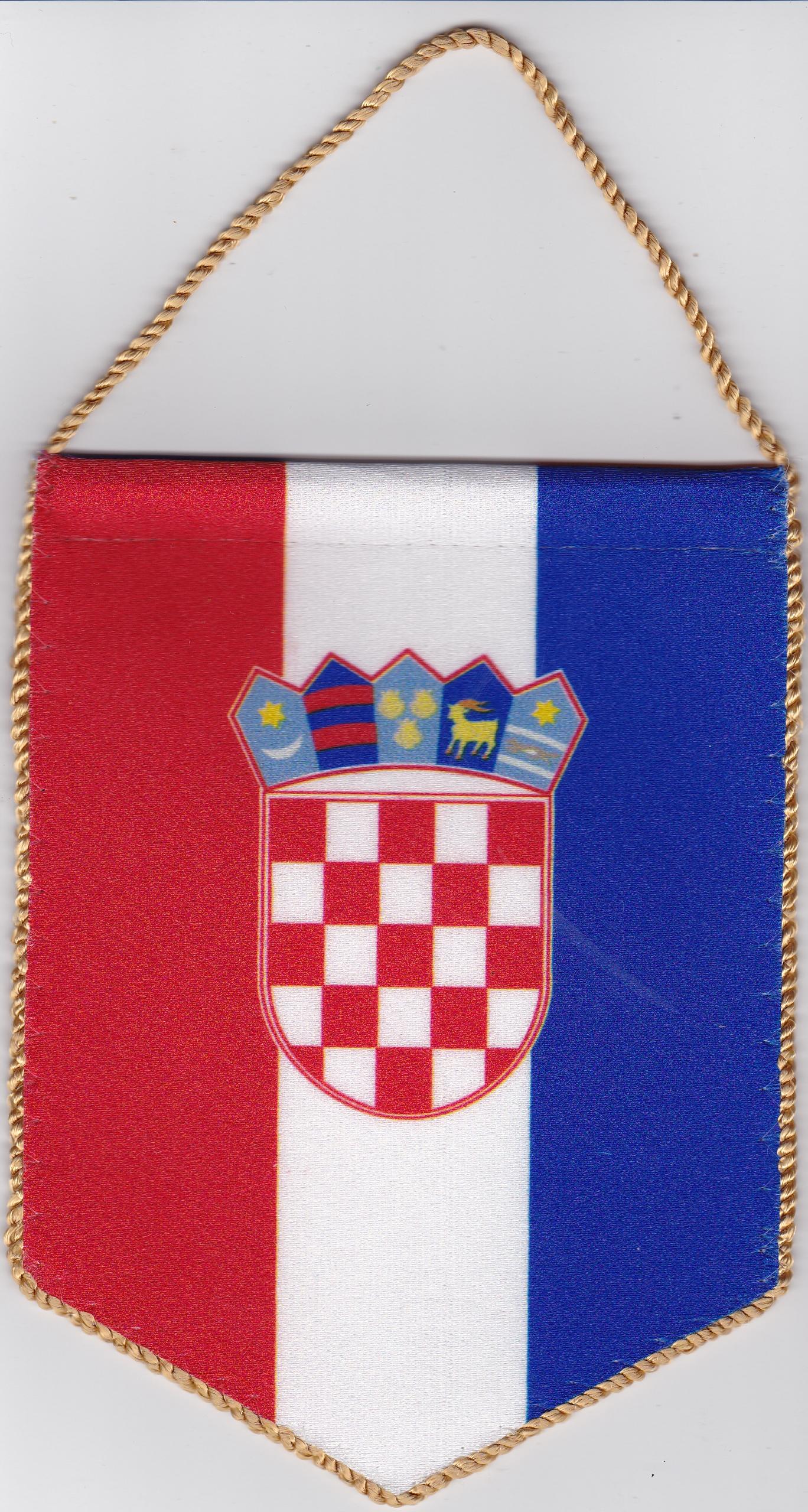 5 szöglető horvát zászló visszapillantó tükörre